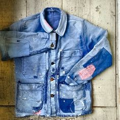 Vintage chore jacket repair +++ via naritabby +++