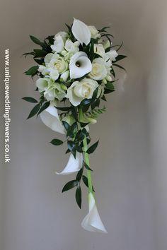 Wedding Bouquet - Bride's Shower Bouquet  uniqueweddingflowers.co.uk