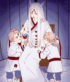 Kaguya and her two sons.