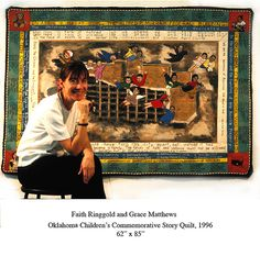 ©Faith Ringgold and Grace Matthews, Oklahoma Childrens Commemorative Story Oklahoma Quilt, 62 x 85 inches, 1996.