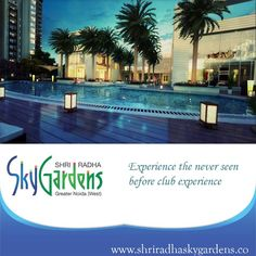 #SHRI Group The picture says it all... SHRI Radha SKY Gardens has a club which has all the luxury facilities.  Call us at :+91 9911553327 Visit : www.shriradhaskygardens.co To view the walkthrough follow this link: https://www.youtube.com/watch?v=64PGwNrpAL4