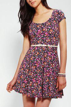 Kimchi Blue Knit Floral Skater Dress #urbanoutfitters