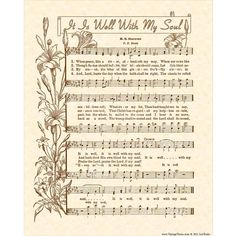 Also known as WHEN PEACE LIKE A RIVER, this vintage hymn has quite a history behind it. The words were written by a Chicago businessman at a time Gospel Music, Music Lyrics, Lds Music, Gospel Lyrics, Hymn Art, Church Songs, Spiritual Songs, Music Wall Art, Or Mat