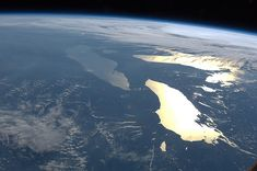 Image: 'Great Lakes in Sunglint (NASA, International Space+Station,+06/14/12)', found on flickrcc.net