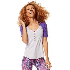 Zumba Womens Get Hyped Up Baseball Tee Wear It Out White Medium ** Be sure to check out this awesome product affiliate link Amazon.com