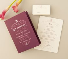 From wedding ceremony programs to menu cards, complete your perfect day with this vintage style.