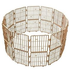 Dog Safe Plastic Indoor/outdoor Fences Kennel Cage Pen with 12 Pieces Brown Color -- Check out this great image : Dog cages Outdoor Dog, Indoor Outdoor, Cat Cages, Dog Dental Care, Dog Training Pads, Dog Food Storage, Dog Shower, Dog Shedding, Dog Chew Toys