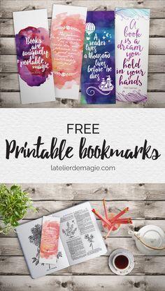 Free printable bookmarks   latelierdemagie.com Más