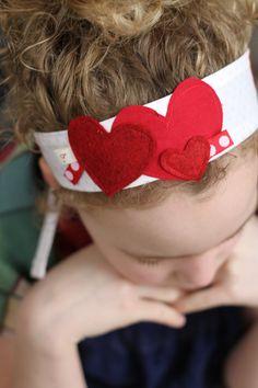 Love Bug Pink Dot (Hearts): Headband