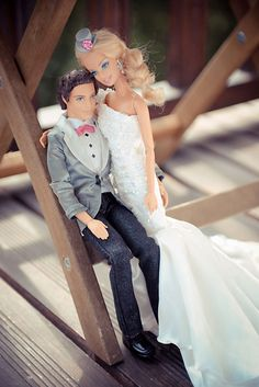 I like Barbie's flowing dress and Ken's Slim Fit tuxedo. We just picked out my fiance's slim fit tuxedo two days ago!! Yay!! Getting so excited!!!
