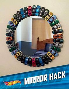 DIY Hot wheels mirror for a boys room! DIY Hot wheels mirror for a boys room! Boys Room Decor, Kids Decor, Decor Ideas, Car Bedroom Ideas For Boys, Boys Room Ideas, Bedroom Decor, Bed Ideas, Diy Boy Room, Toddler Boy Room Ideas