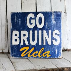 College Sign- distressed home decor, wall art, college, school, painted wood sign. $45.00, via Etsy.