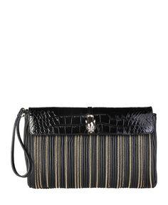 Cavalli class - collezione a/i 2016 - borsa donna - pochette - un manico amovibile, chiusura magnetica, tracolla amovibi - Pochette donna  Nero