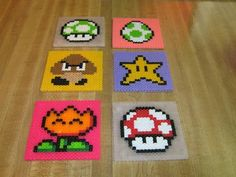 aw! I totally remember those thingys! this is a great way to make coasters and they are perfect for making 8 bit characters, Lol!
