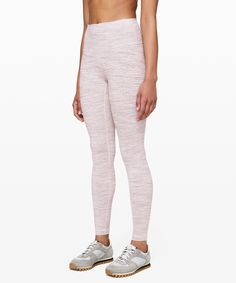"""lululemon Women's Wunder Under High Rise Legging 28"""" Luxtreme, Wee Are From Space Pink Bliss Vintage Mauve, Size 0"""