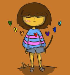 Undertale Frisk determination by_Rrt9 art