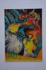 SPIDER-MAN 1995 FLEER ULTRA CLEARCHROME INSERT CARD 5 OF 10 LIZARD MA