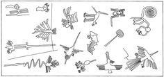 Els dibuixos de Nazca, Perú, amb més detall.