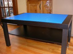 Lego table from Ikea Lack Coffee Table Table Lego Ikea, Lego Hacks, Ikea Hacks, Lack Coffee Table, Big Lego, Lego For Kids, 19 Kids, Kids Bedroom Furniture, Furniture Ideas