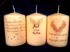 Personalised Baby Loss Candles - I want all of them!