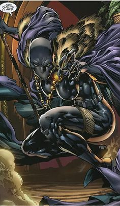 Black Panther (Shuri) (Marvel Comics) (Female) with cape and fur cloak Black Panther Comic, Female Black Panther, Shuri Black Panther, Black Panther Storm, Black Panthers, Marvel Comics Art, Marvel Heroes, Shuri Marvel, Panther Pictures