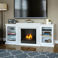 Real Flame Frederick Entertainment Center Gel Fuel Fireplace & Reviews | Wayfair