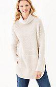plus size textured turtleneck poncho sweater   J.Jill