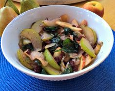 SIMPLY 123 ALLERGY FREE: Fall Apple, Pear and Spinach Salad