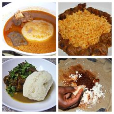 Who's having African food for their Valentine's Dinner? Which do you prefer fufu (starchy vegetables like cassava, yams or plaintains and then pounding them into a dough-like consistency), Ugali ( dish of maize flour (cornmeal) cooked with water to a porridge- or dough-like consistency), Jollof or Njera ( yeast-risen flatbread)? Ghana  Nigeria  Ethiopia  Uganda  food  Africa