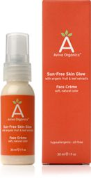 Aviva Organics Sun-Free Skin Glow Face Crème is 100% oil-free, formulated for the delicate skin on your face.