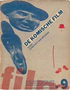 Photomontage book cover by Piet Zwart (1885-1977), 1931-1933, dedicated to international trends in the art of filmmaking. (Dutch Graphic Design)
