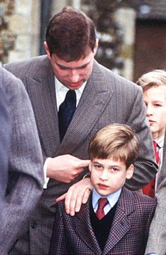 104-The Duke Of York Talking To His Nephew Prince William Circa 1990s