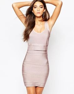 WOW Couture Bandage Double Strap Body-Conscious Dress