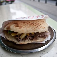 Ekmek Arasi Et Döner @ Korkmaz Bufe, the most common food in Istanbul is the doner sandwich. this is one of the best ones in the city, found on the Asian side in a neighborhood called Moda