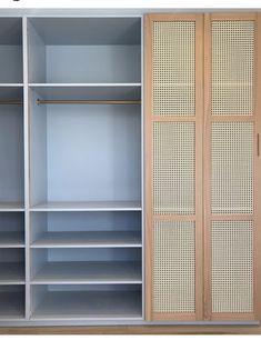 Rattan Furniture, Home Furniture, Furniture Design, Bedroom Wardrobe, Home Bedroom, Ideas Armario, Home Upgrades, Wardrobe Design, Interiores Design