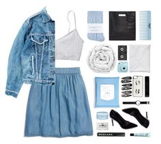 """""""Double Denim"""" by via-m ❤ liked on Polyvore featuring Johnstons, Madewell, Levi's, Aveda, 3.1 Phillip Lim, Luckies, Brinkhaus, Clips, Kate Spade and Rosendahl"""