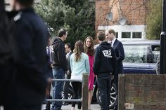 March 27, 2015 - The Duke and Duchess of Cambridge arrive on the Hazel Grove Estate