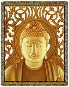 Amazing offer on Gold Buddha Tapestry Throw Blanket online - Favoritefurniture Cotton Blankets, Cozy Blankets, Down Blanket, Knitted Throws, Bed Throws, Buddha, Tapestry, Wall Art, Gold