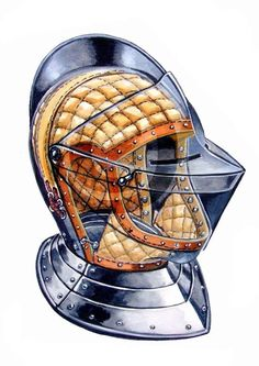 Helmet with Padding, Cutaway