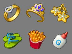 Set of icons from several games by Playrix. Набор иконок, собранных из разных проектов Playrix.