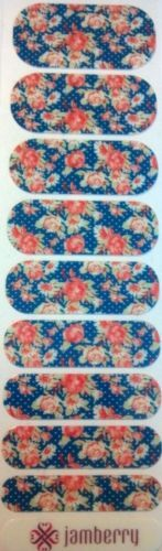 Jamberry-Nail-Wraps-Lazy-Afternoon-Retired-Rare-Half-Sheet