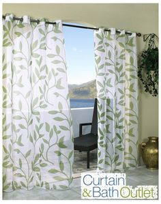 Easy, breezy curtains are the perfect summertime home accent! Our gorgeous styles instantly serve as a focal point in any room. Explore our entire collection of quality window treatments, at prices up to 20-50% off the department store at www.CurtainandBathOutlet.com #CurtainAndBathOutlet