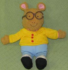 TALKING Arthur 1996 Playskool Plush Stuffed PBS Kids Marc Brown Aardvark Doll TV #Playskool
