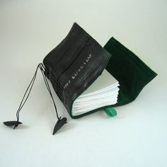 Book made from recycled used bicycle inner tubes by palepink on etsy