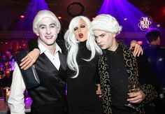 Model Katia Kokoreva at the #BloodBall with some friends.  Photo Credit: Monica Schipper