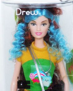 Barbie Fashion Fever Drew Blue Hair Japanese Tokyo Pop Harajuku Street Style | eBay