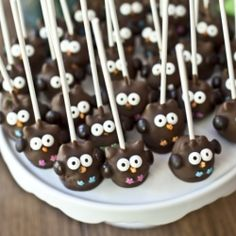 Cake Pop Owls - Cake pops you would love to taste and that will tempt you to new adventures in the baking area Owl Cakes, Cupcake Cakes, Ladybug Cakes, Fruit Cakes, Owl Cake Pops, Owl Food, Cupcakes Decorados, Cakepops, Macaron