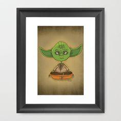 Yoda Zen Framed Art Print by Ana Andreiolo