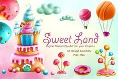 Sweet Land Clip Art by ESchweitzerDesign on @creativemarket