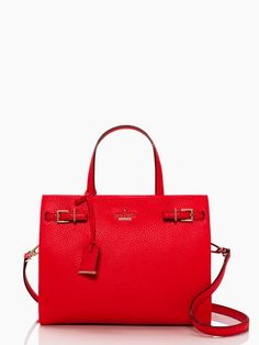 splurge alert!!! i love pebbled leather and this bold color!!!  kate spade: holden street olivera